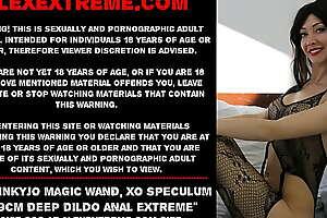 Hotkinkyjo magic wand, xo speculum and 69cm unfathomable cavity dildo anal extreme