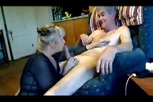 Blonde Milf Erica sucking cock be proper of her Lover