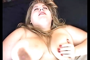 Cute BBW has lovely broad in the beam tits