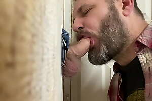 Blowing cute laborer to hand my glory hole