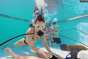 Bracket films Bracket Eva Sasalka and Jason underwater fucking