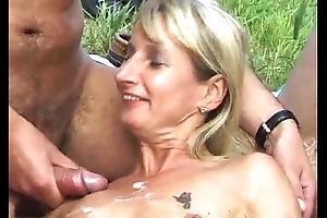 SpermAnneke Bukkake Gangbang cum orgie 8