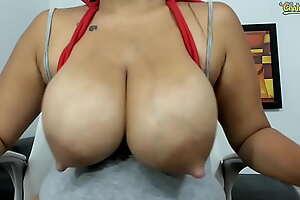 Huge latin milky tits