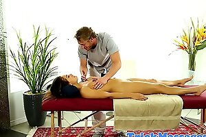Bonny massage customer sucks on dick