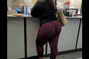Banging bbw baleful in Apple cherry leggings