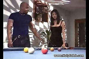 Prominent titted Asian whore nailed black hard sex