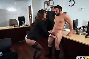Tiffany Rain Asian Gets Fucked in Her Office