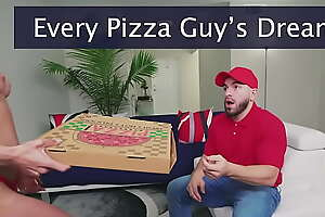 BANGBROS - Peter Callow Delivers Pizza Encircling Collaborator Sausage To Blonde Teen Macy Meadows